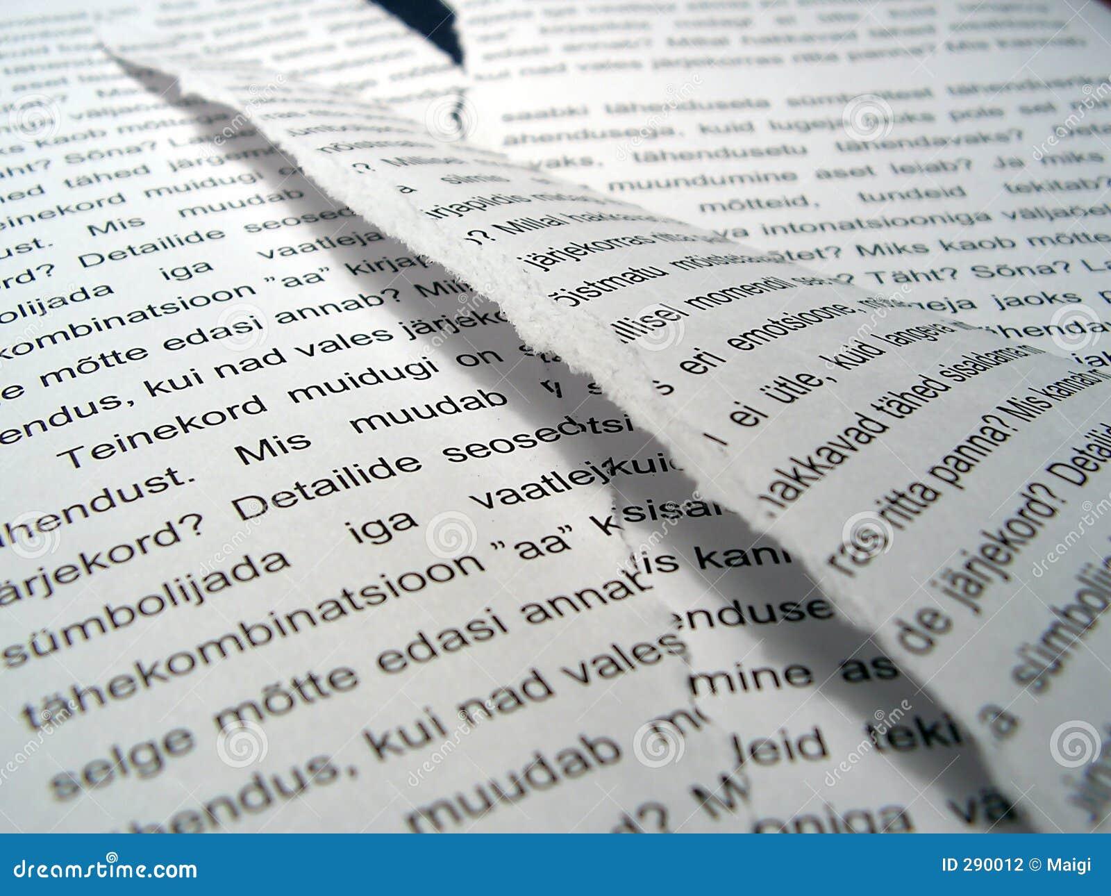 Rivit sönder papper