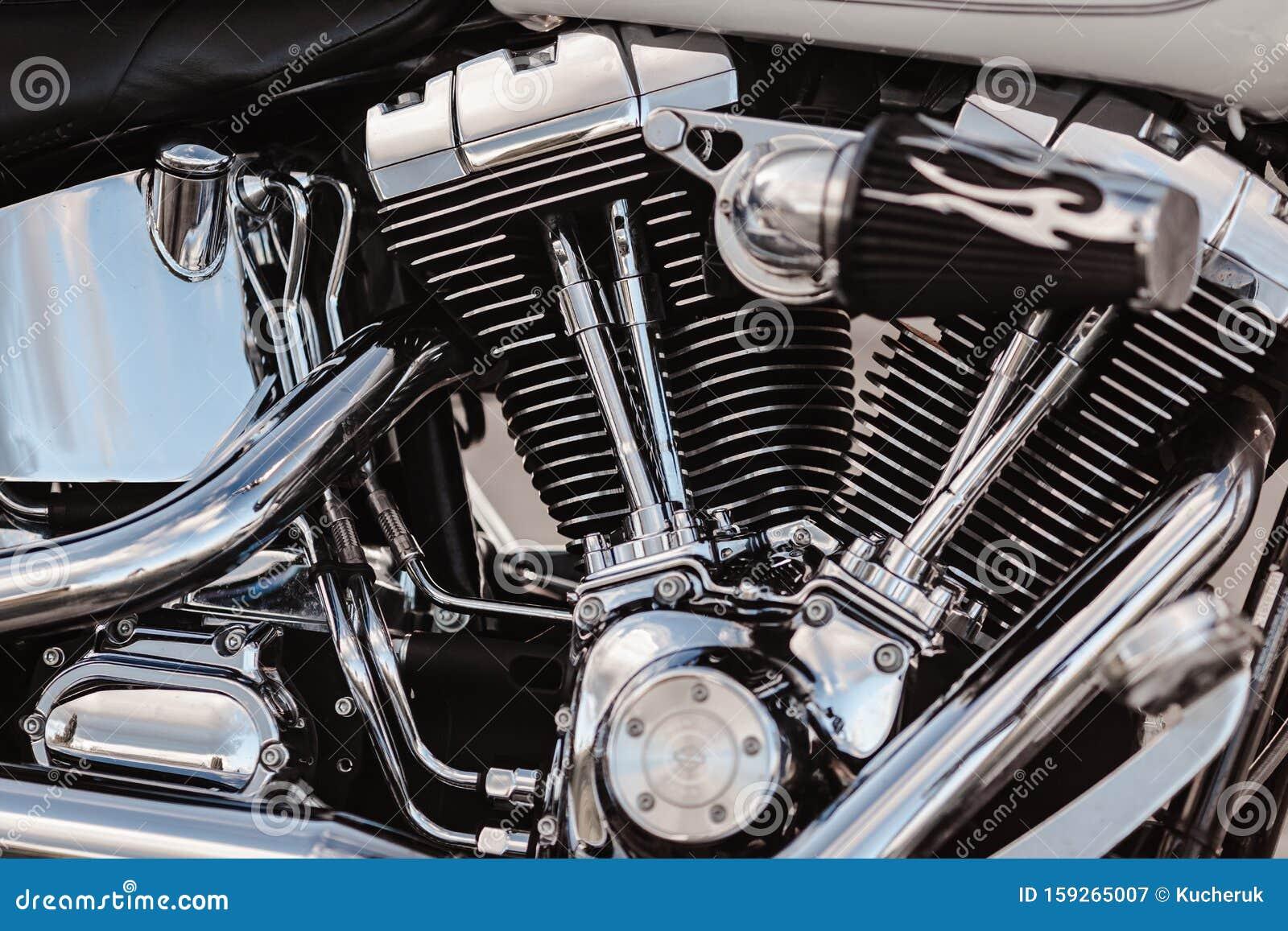 Rivne Ukraine September 23 2019 Harley Davidson Fat Boy