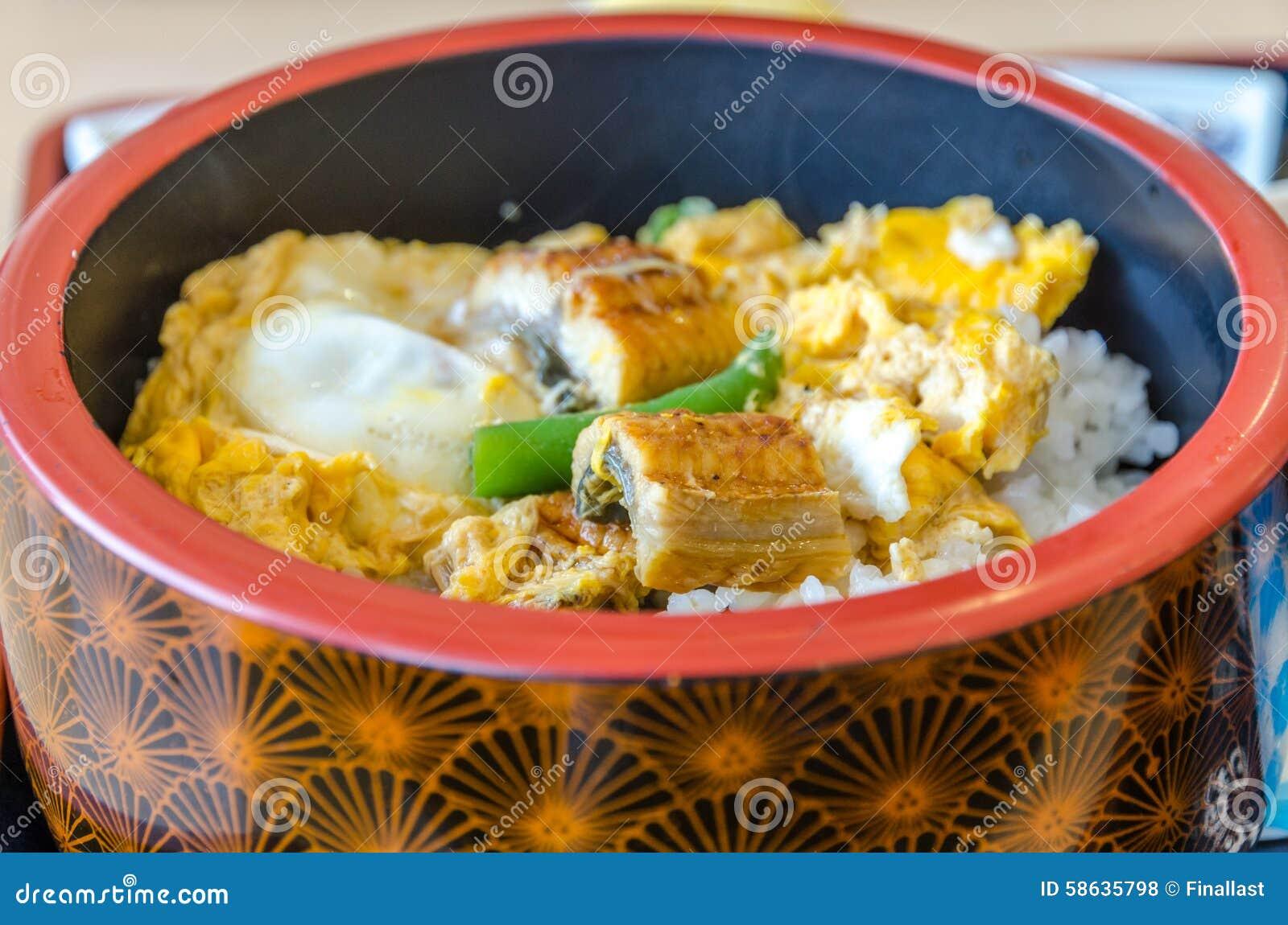 riz avec l 39 anguille photo stock image du cuisine gourmet. Black Bedroom Furniture Sets. Home Design Ideas