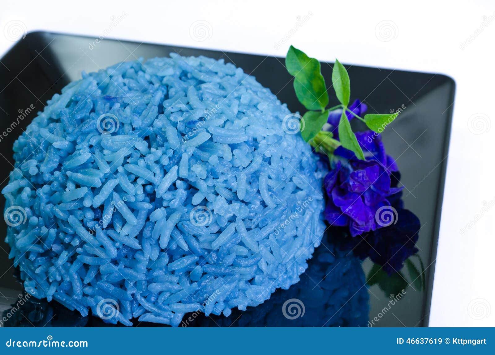 Riz Cuit Bleu De Pois De Papillon Image stock - Image du..