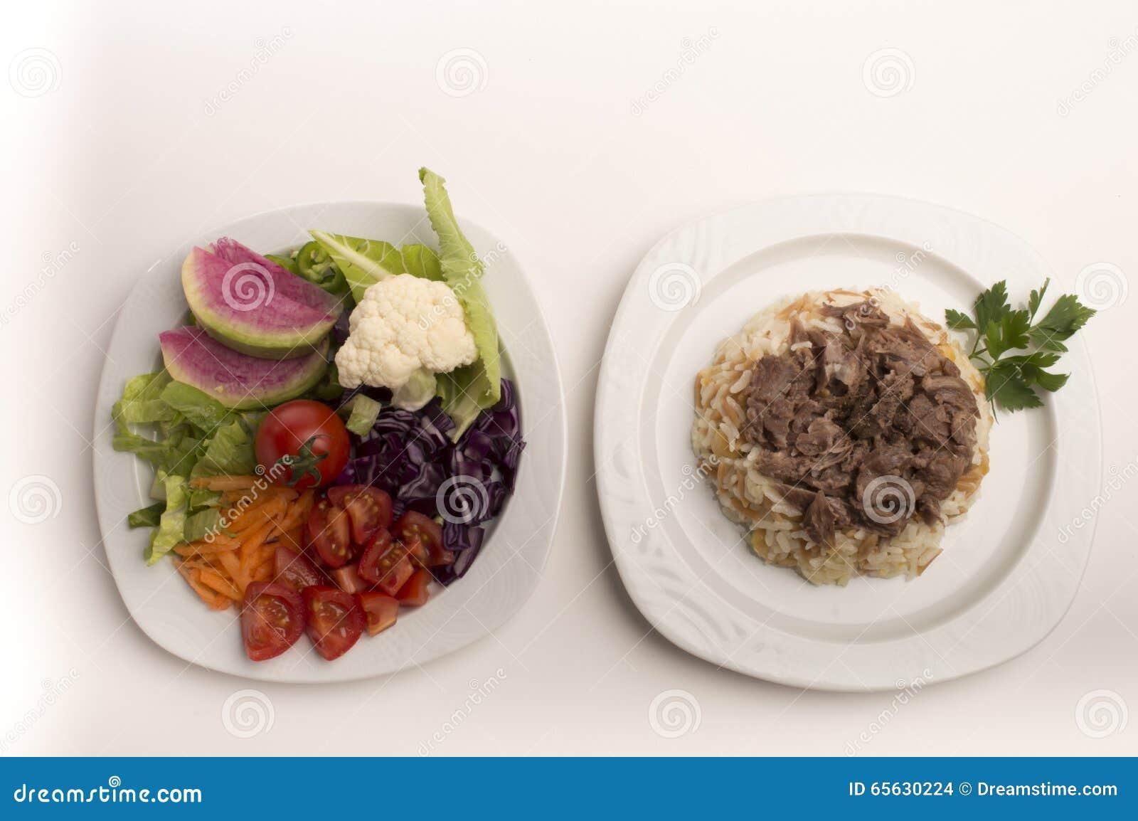 Riz et salade