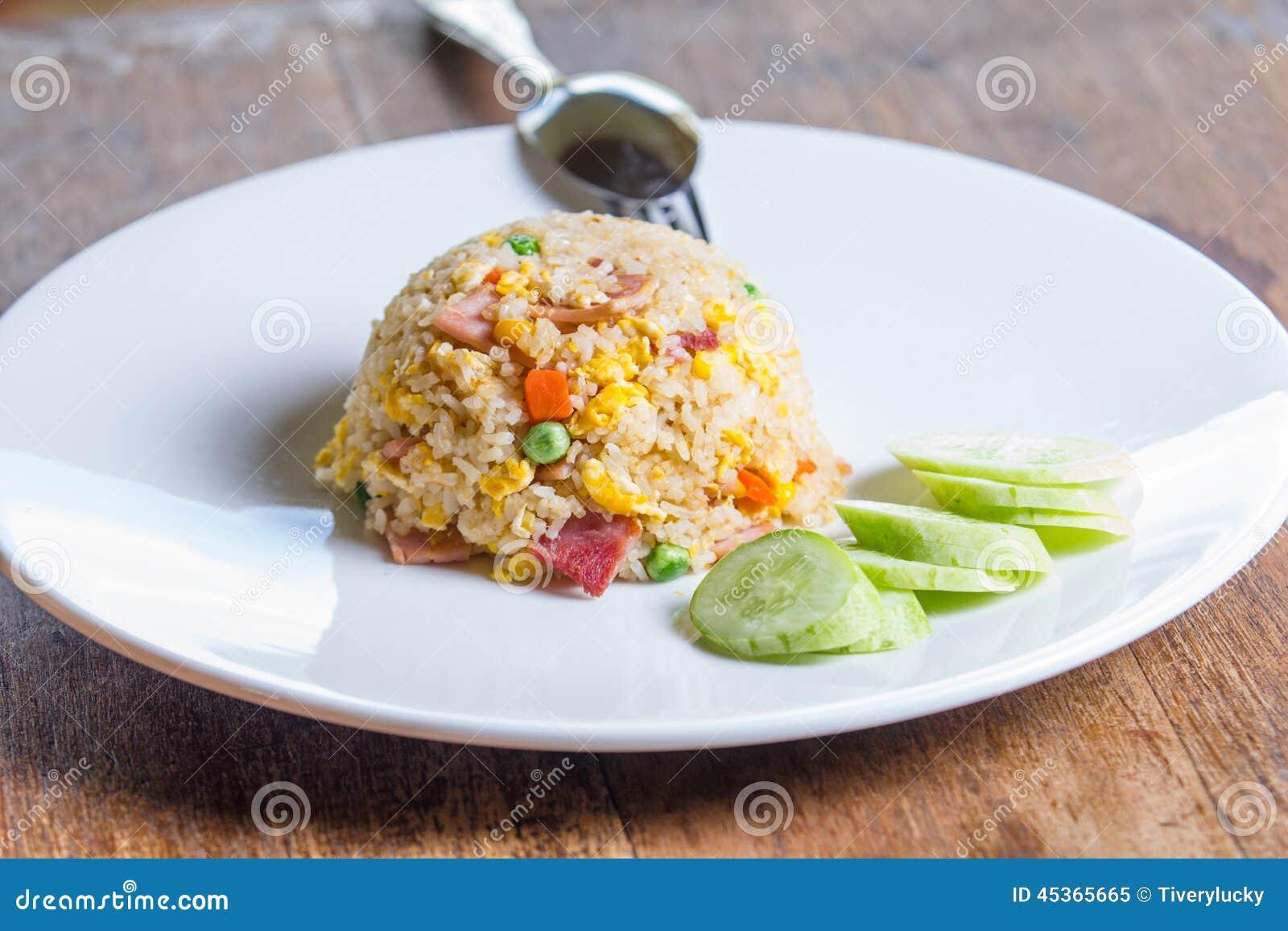 Riz frit de lard