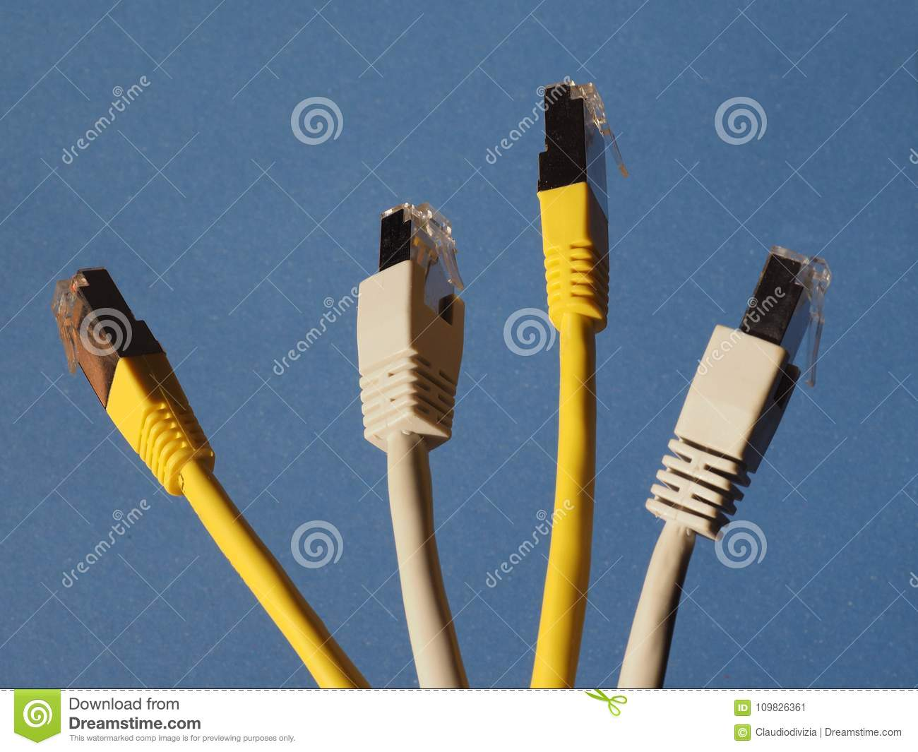 RJ45 ethernet plug stock image. Image of social, wire - 109826361