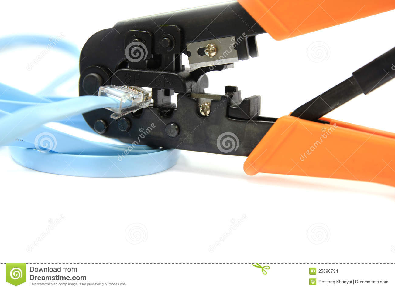 rj11 rj45 network cable crimper plier tools stock photo image 25096734. Black Bedroom Furniture Sets. Home Design Ideas