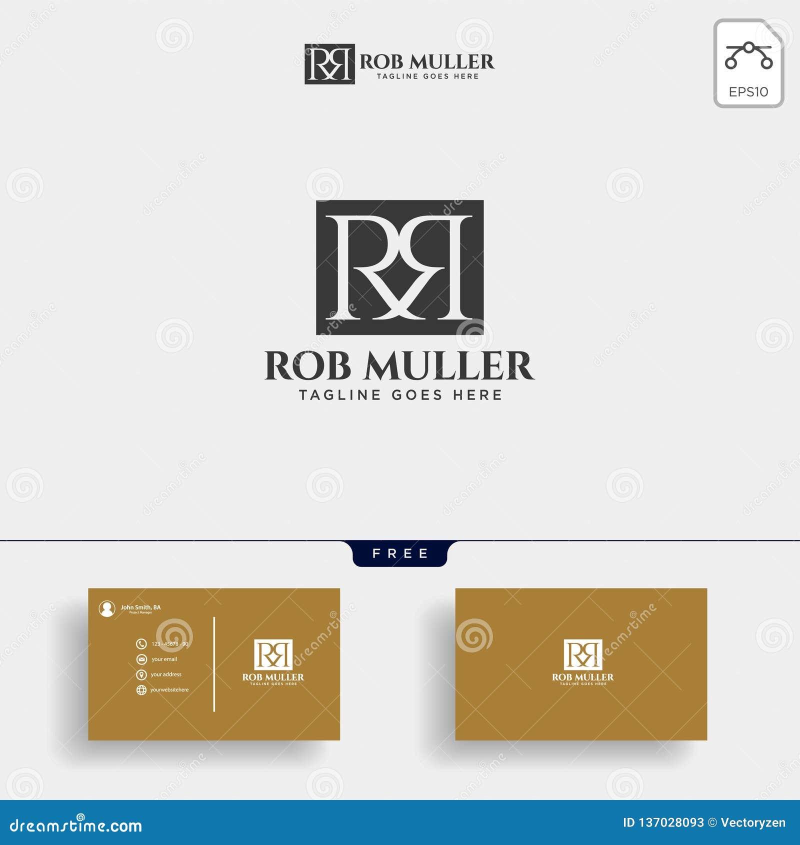 RM da letra, R, ilustração criativa do vetor do molde do logotipo do ouro de m