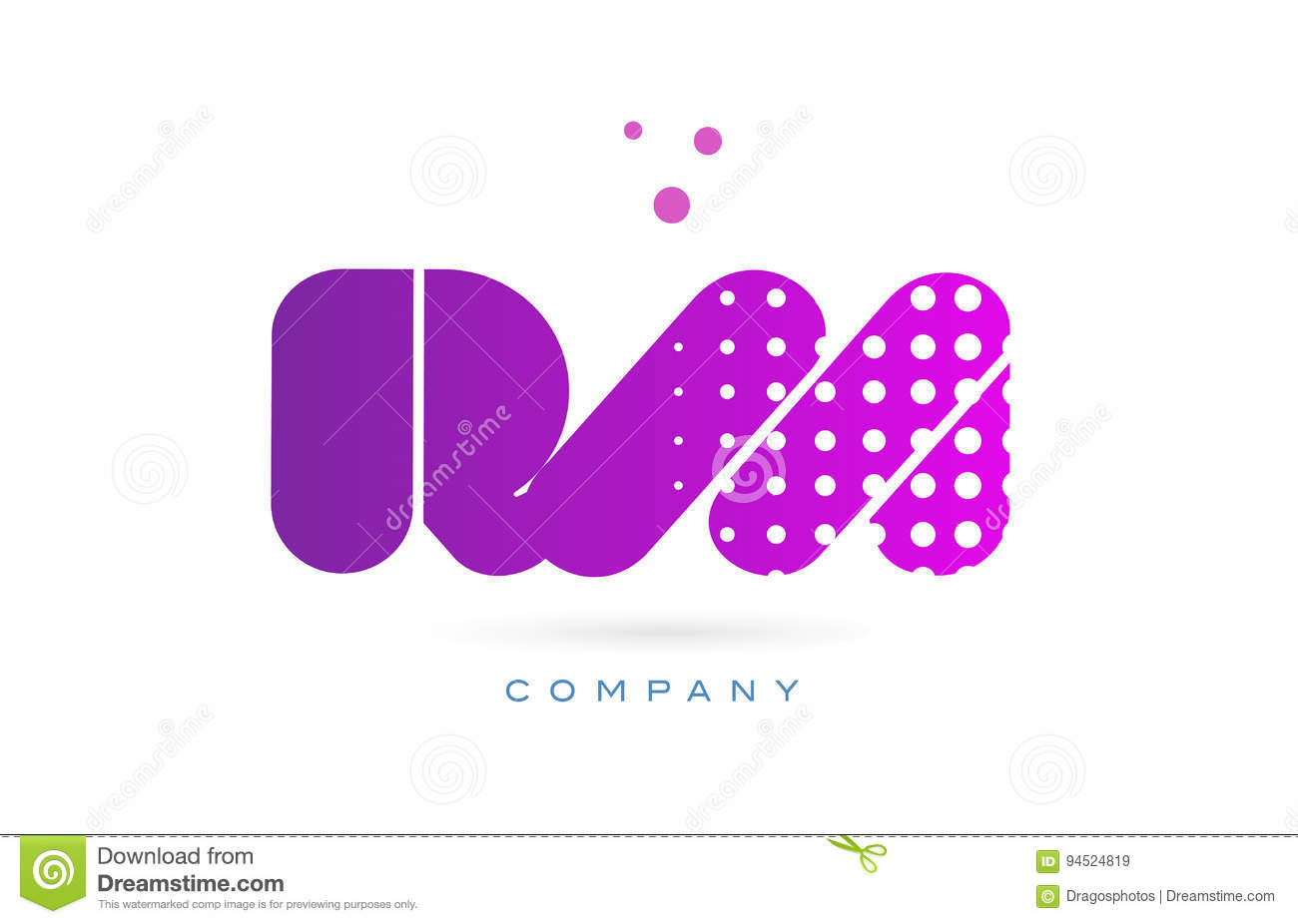 Rm R M Pink Dots Letter Logo Alphabet Icon Stock Vector - Image ...
