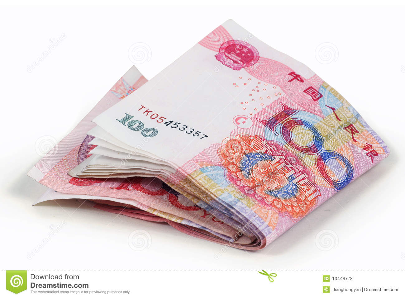 Rmb 100 Yuan Royalty Free Stock Photos - Image: 13448778