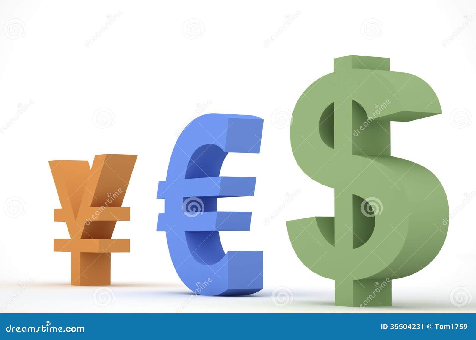 Rmb, Euro And Dollar Stock Image - Image: 35504231