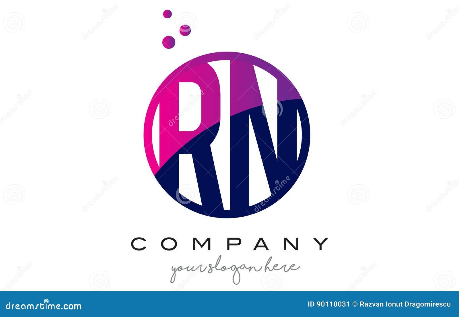 Rn r n circle letter logo design with purple dots bubbles stock download rn r n circle letter logo design with purple dots bubbles stock vector illustration of altavistaventures Images