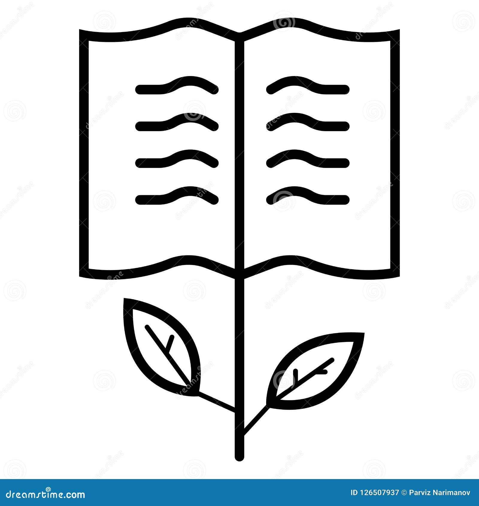 Rośliny ikony książkowy wektor
