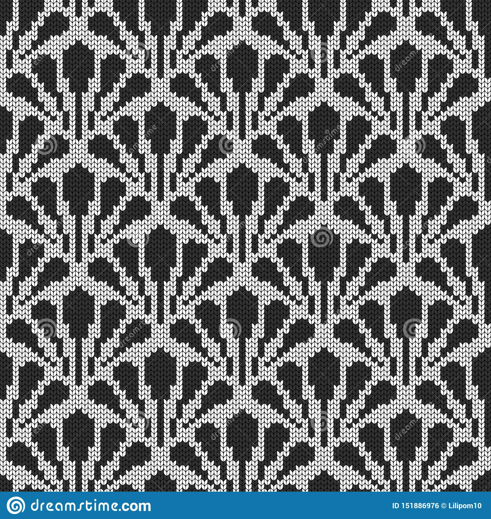 Ro?lina, flora bezszwowy ?rodowisk dekoracyjny Trykotowy wzór dla puloweru, szalika lub skarpet, Jacquard wyplata wally