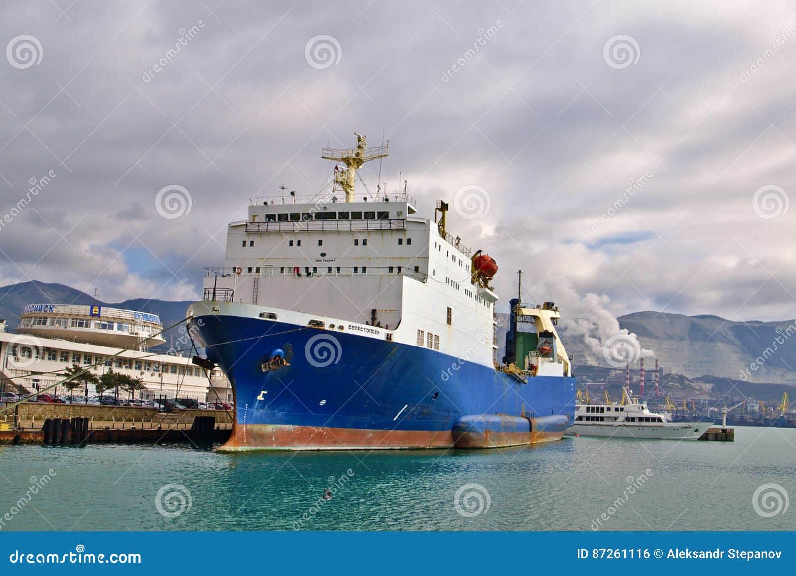 Ro-ro Sevastopol IMO 7822184 In Tsemess Bay Editorial Photo - Image