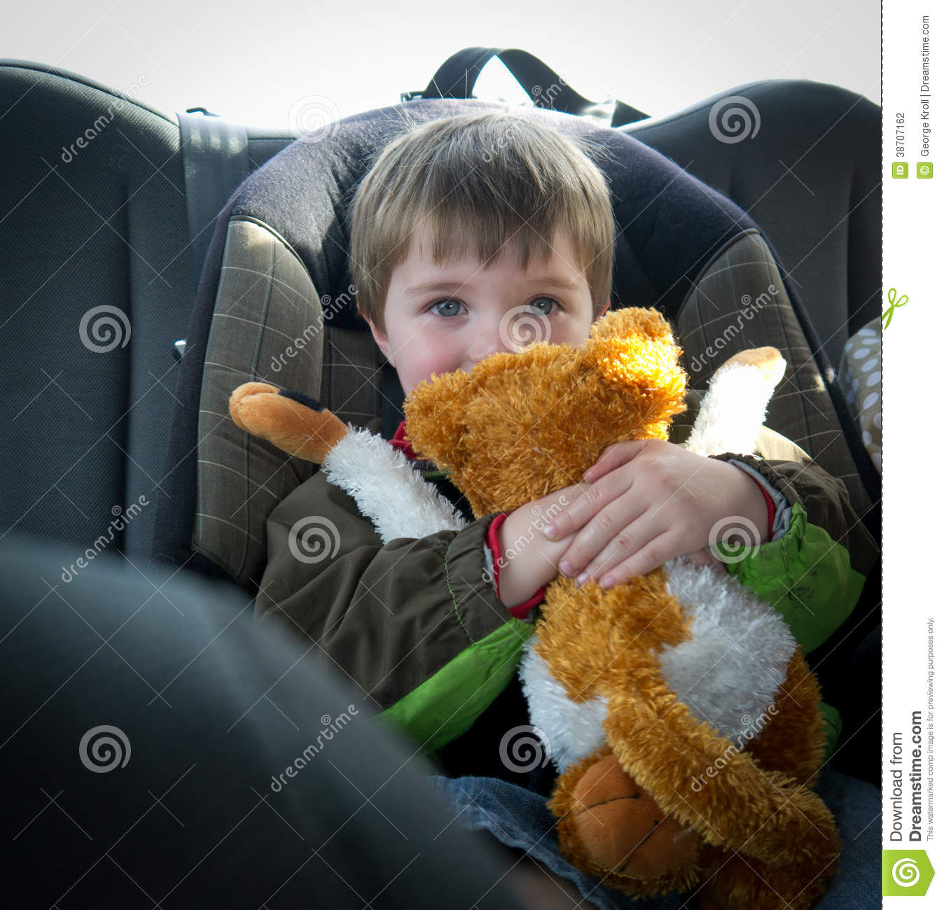 On the road again. Child in Car Seat