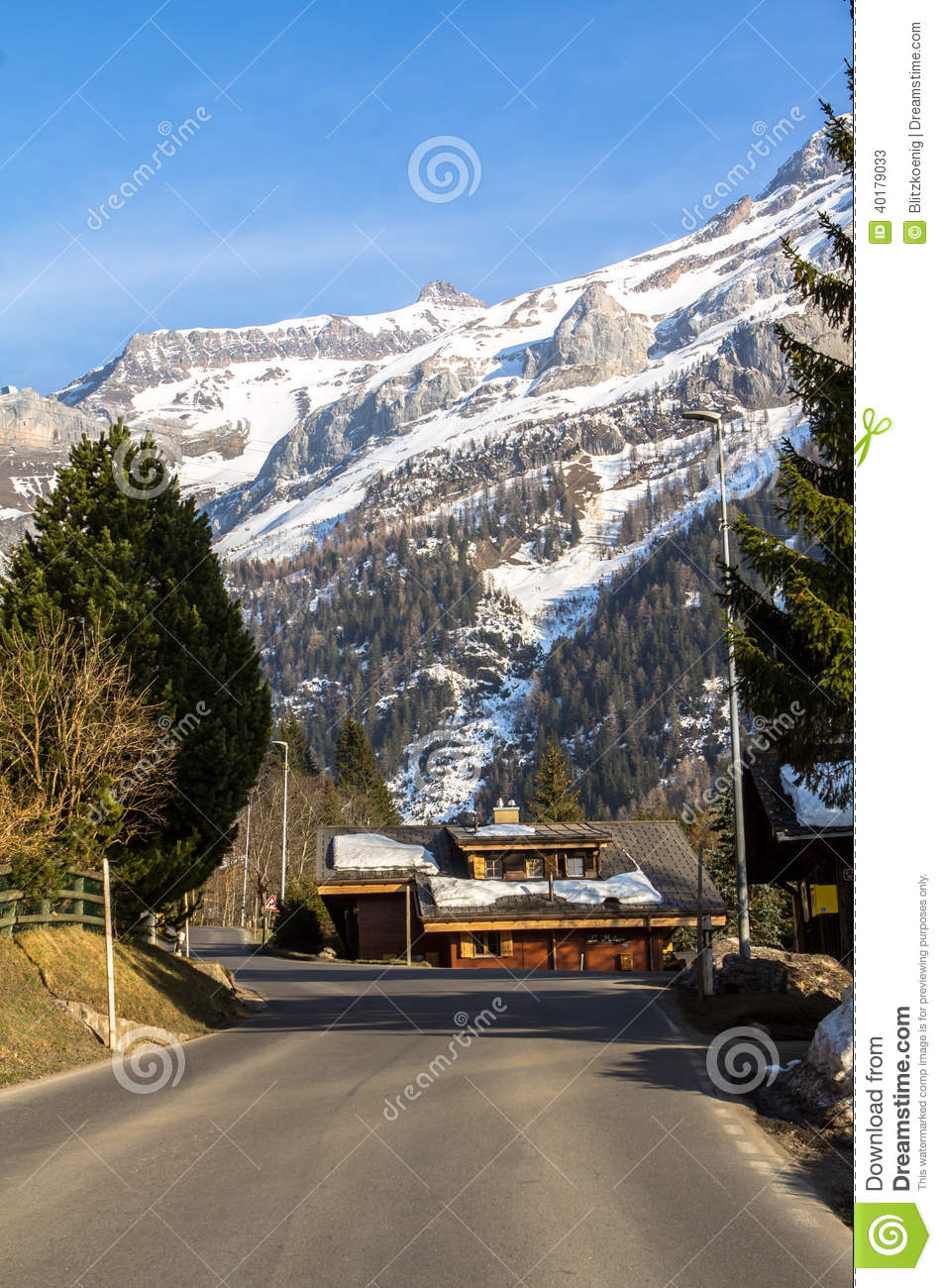 Home Time Road Roblox Id: Road In Alps Royalty-Free Stock Photo