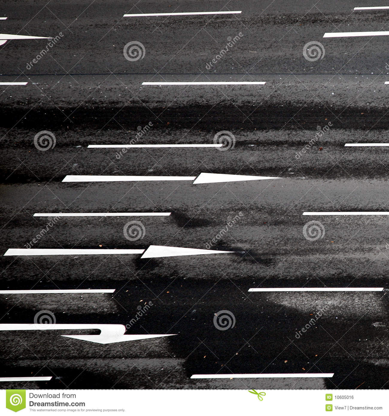 Road With Arrows Royalty Free Stock Image - Image: 10605016