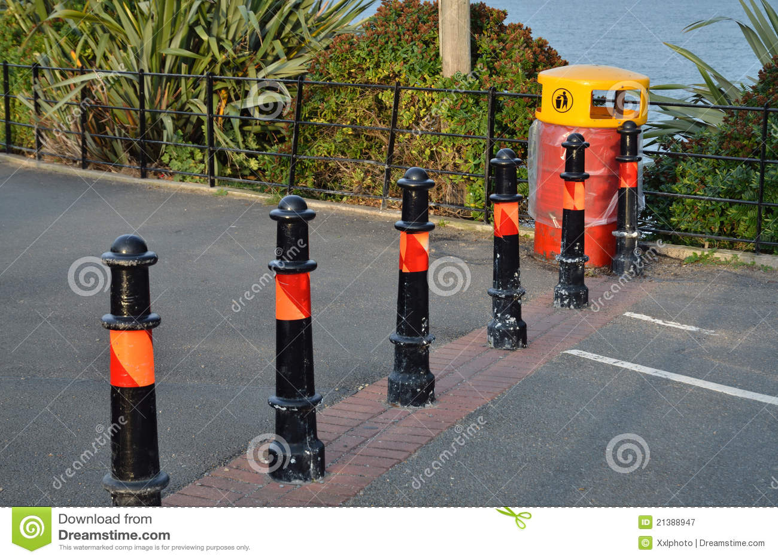 Road barrier stock image of roadblock block
