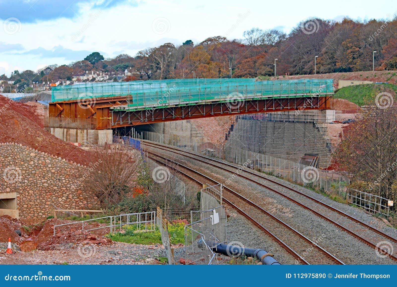 Road bridge under construction