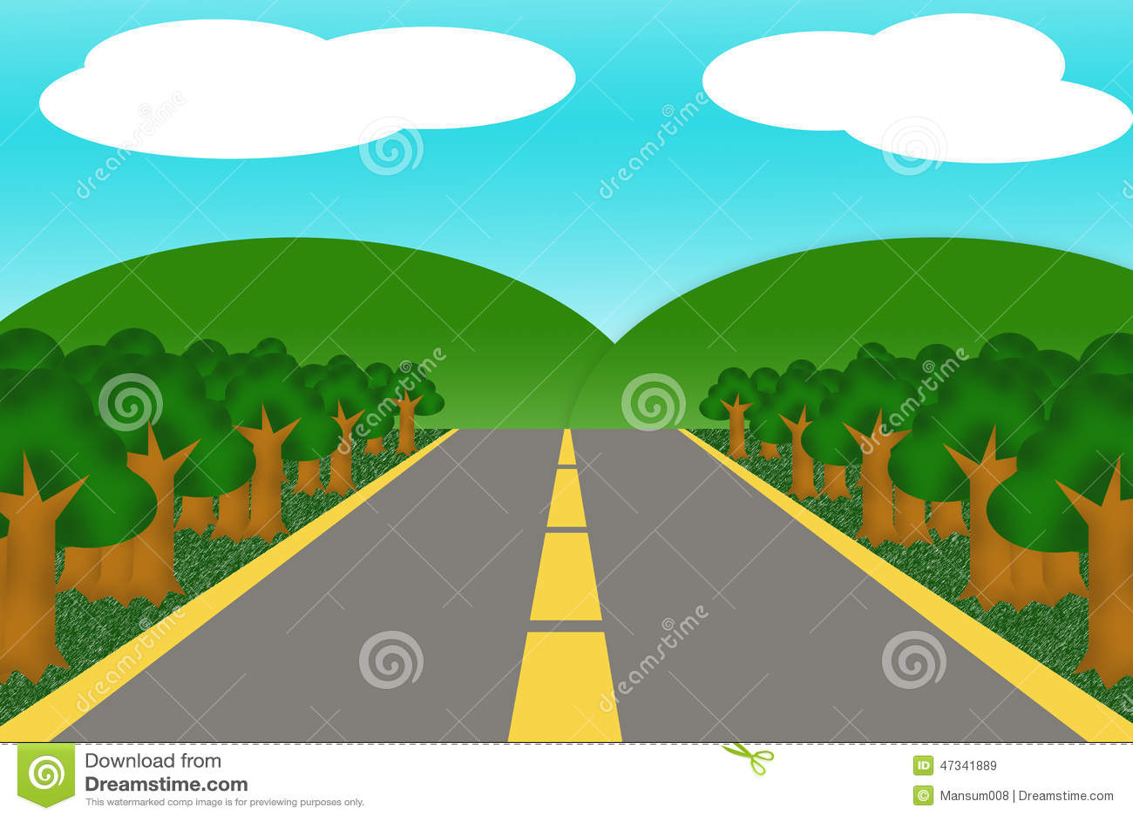 road cartoon stock illustration image 47341889