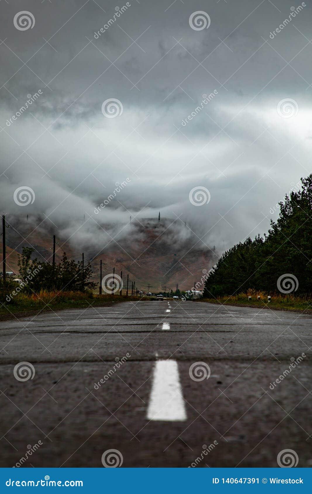 A road through clouds