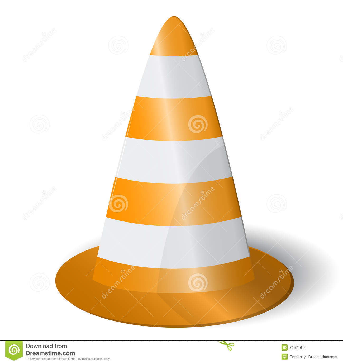 Road Cone Icon Stock Images Image 31571614