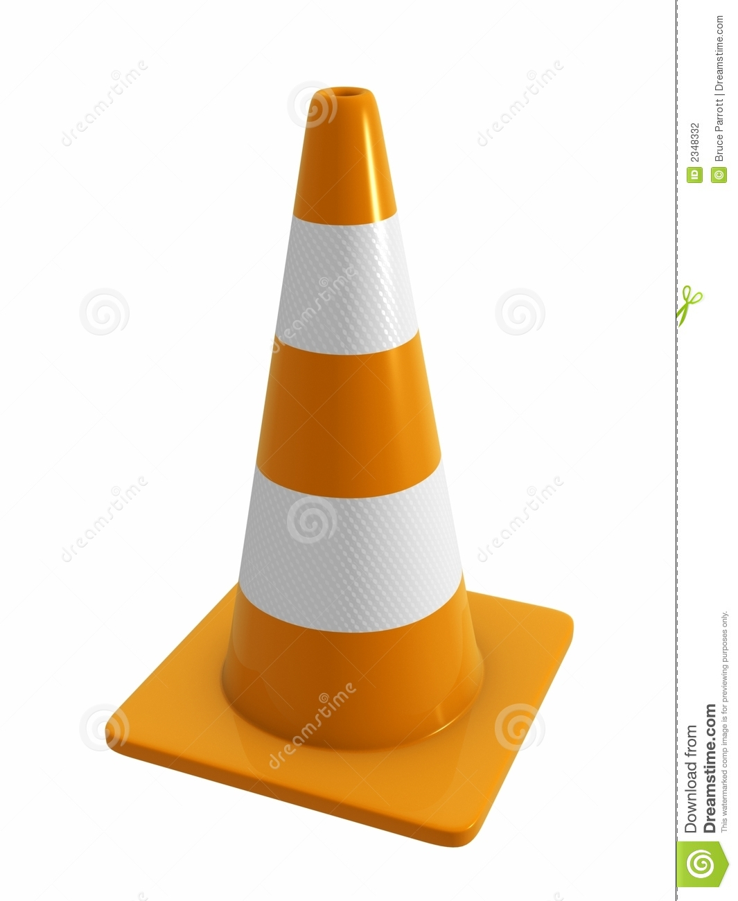 Road Cone with reflective band