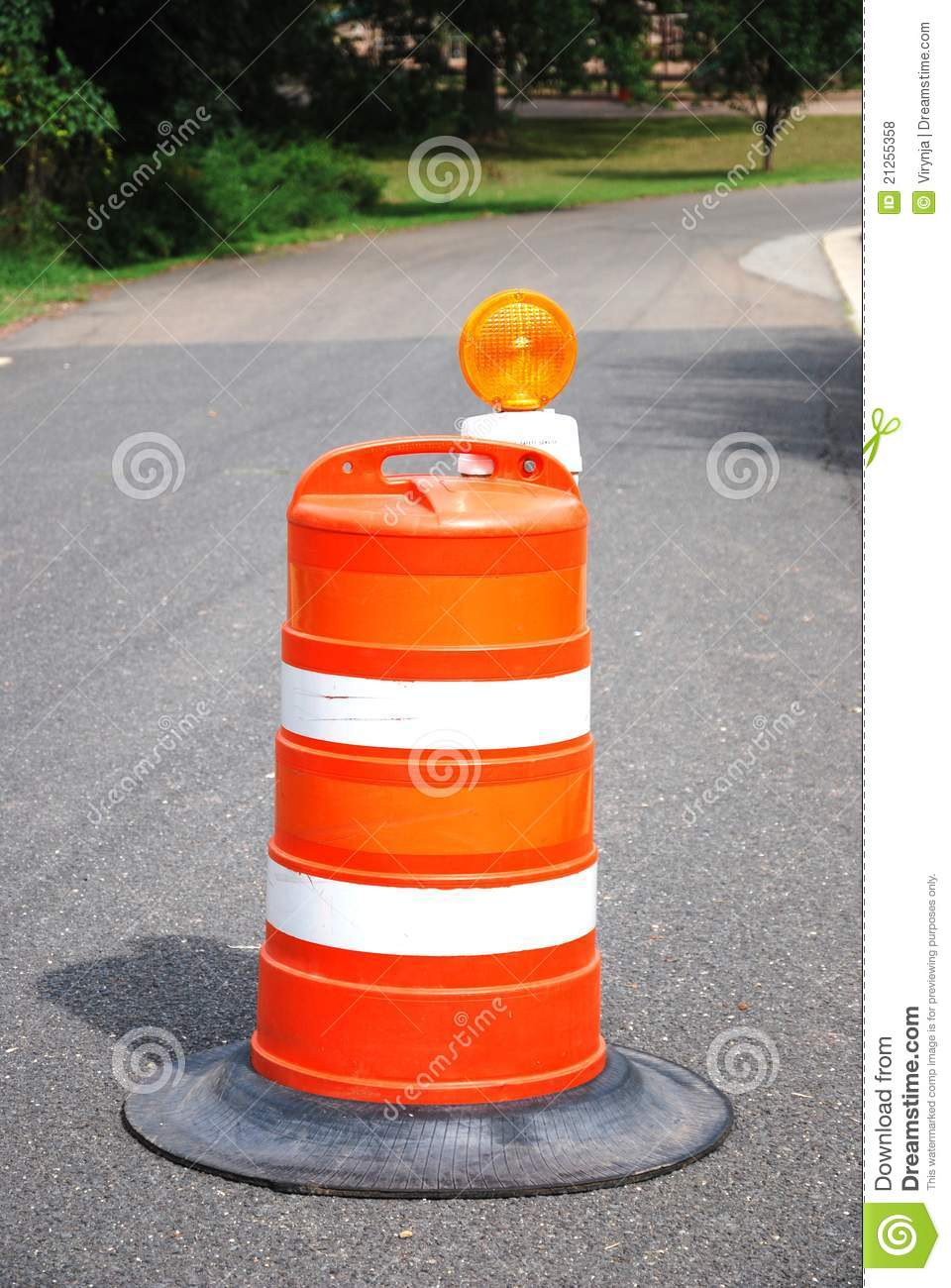 Road Construction Barrel Royalty Free Stock Photos - Image ...