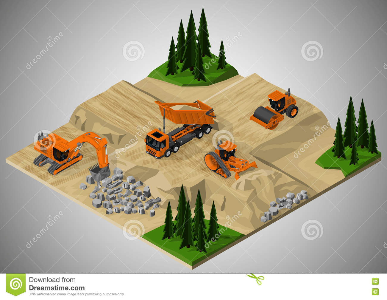 Road construction and machinery involved.