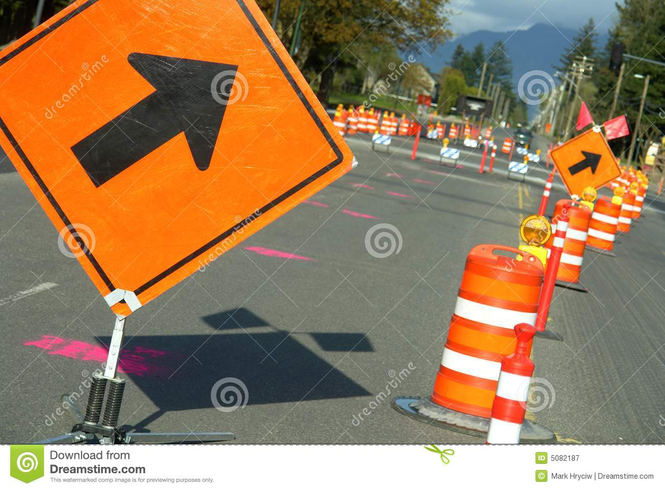 Road Construction Signs Arrow