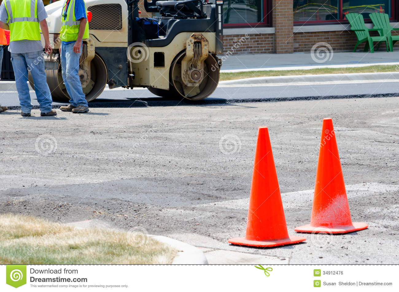 Road Construction Site Royalty Free Stock Image - Image ...