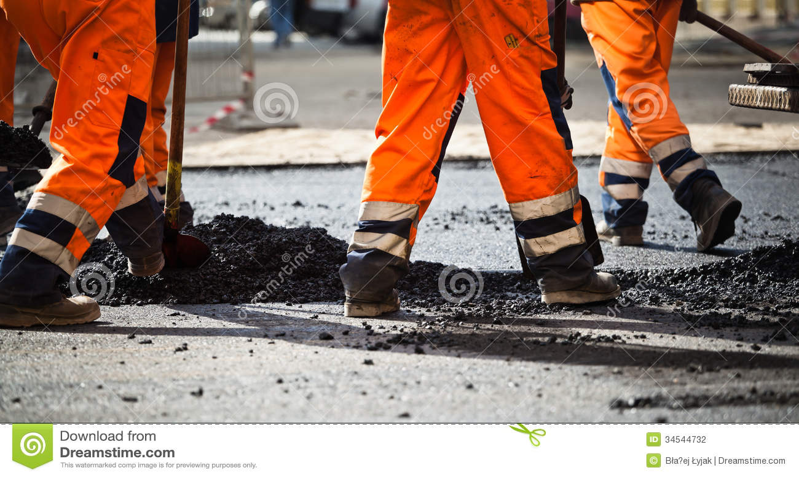 road construction  teamwork stock photo