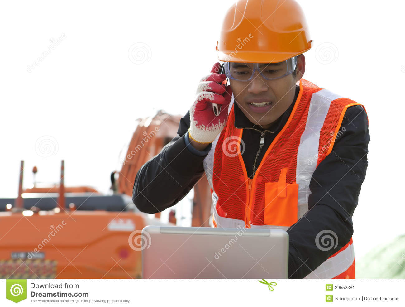 Road Construction Worker Stock Image - Image: 29552381