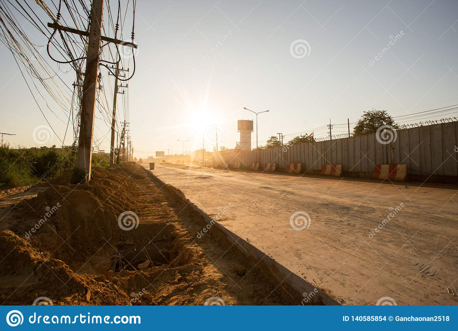 Road currently under construction at to increase traffic