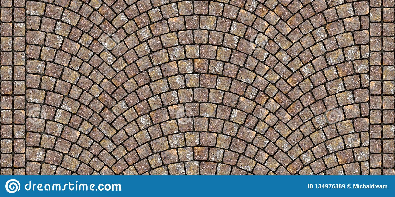 . Road Curved Cobblestone Texture 057 Stock Illustration