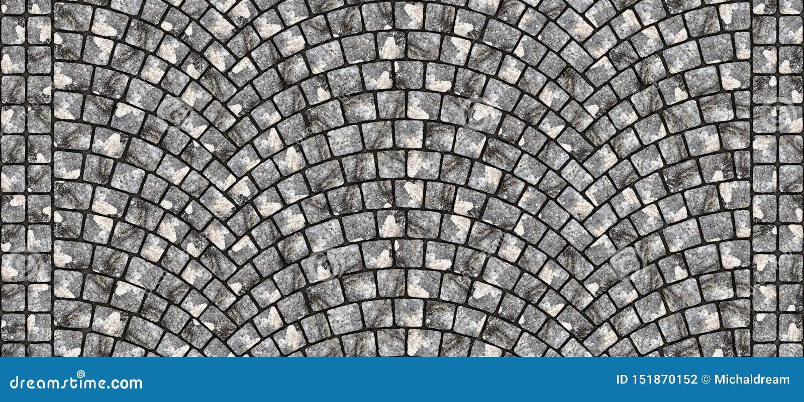Road curved cobblestone texture 102