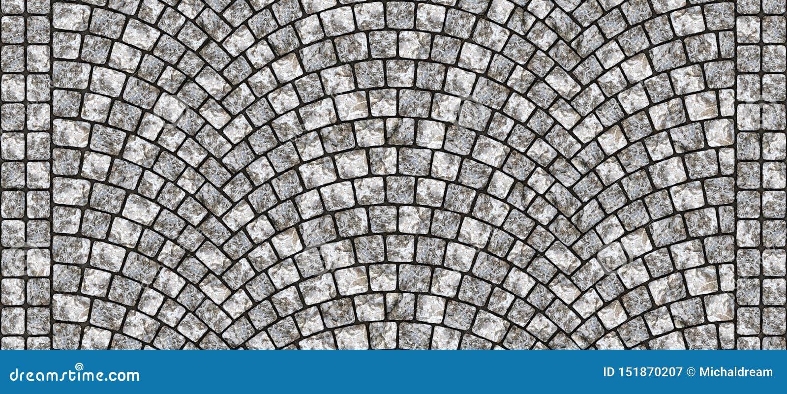 Road curved cobblestone texture 104