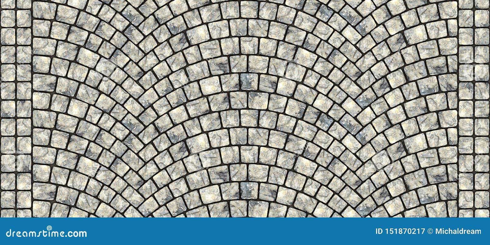 Road curved cobblestone texture 103