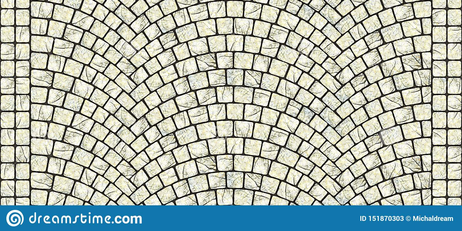 Road curved cobblestone texture 106