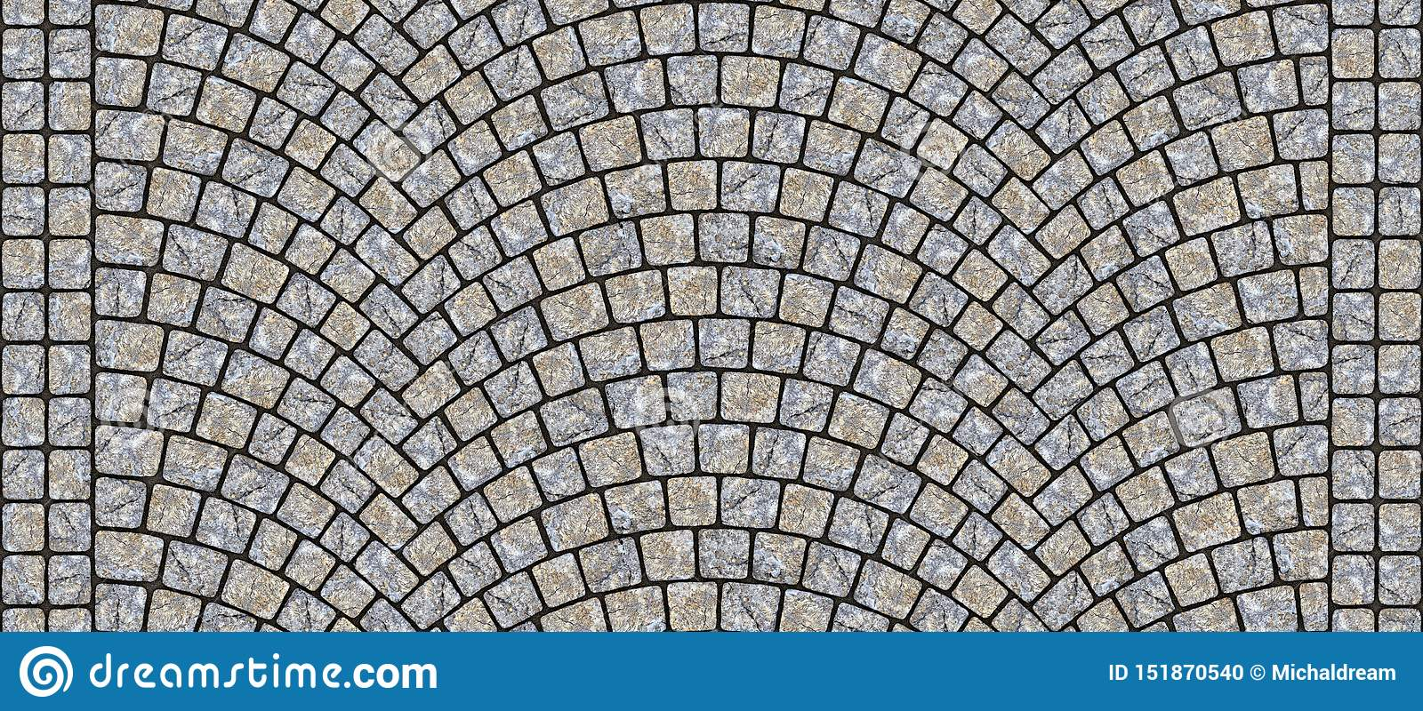 Road curved cobblestone texture 107