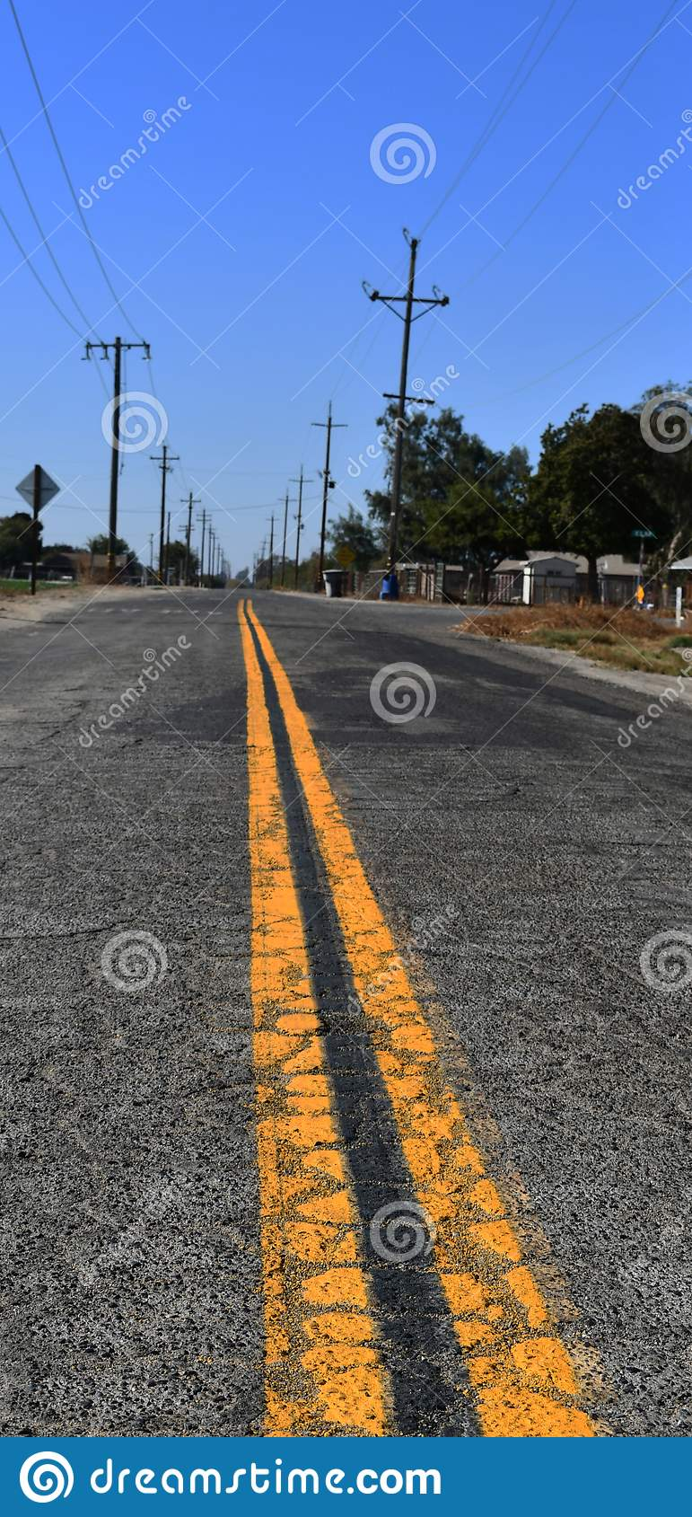 Road driving / asphalt of road for car travel transportation