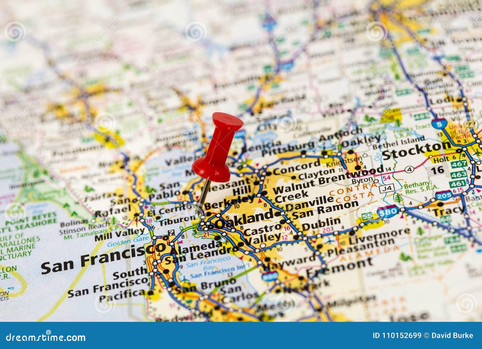 Map Of California Bay Area.San Francisco Bay California Map Editorial Stock Image Image Of