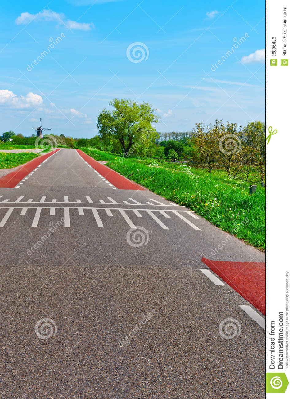 Road in Holland stock image Image of