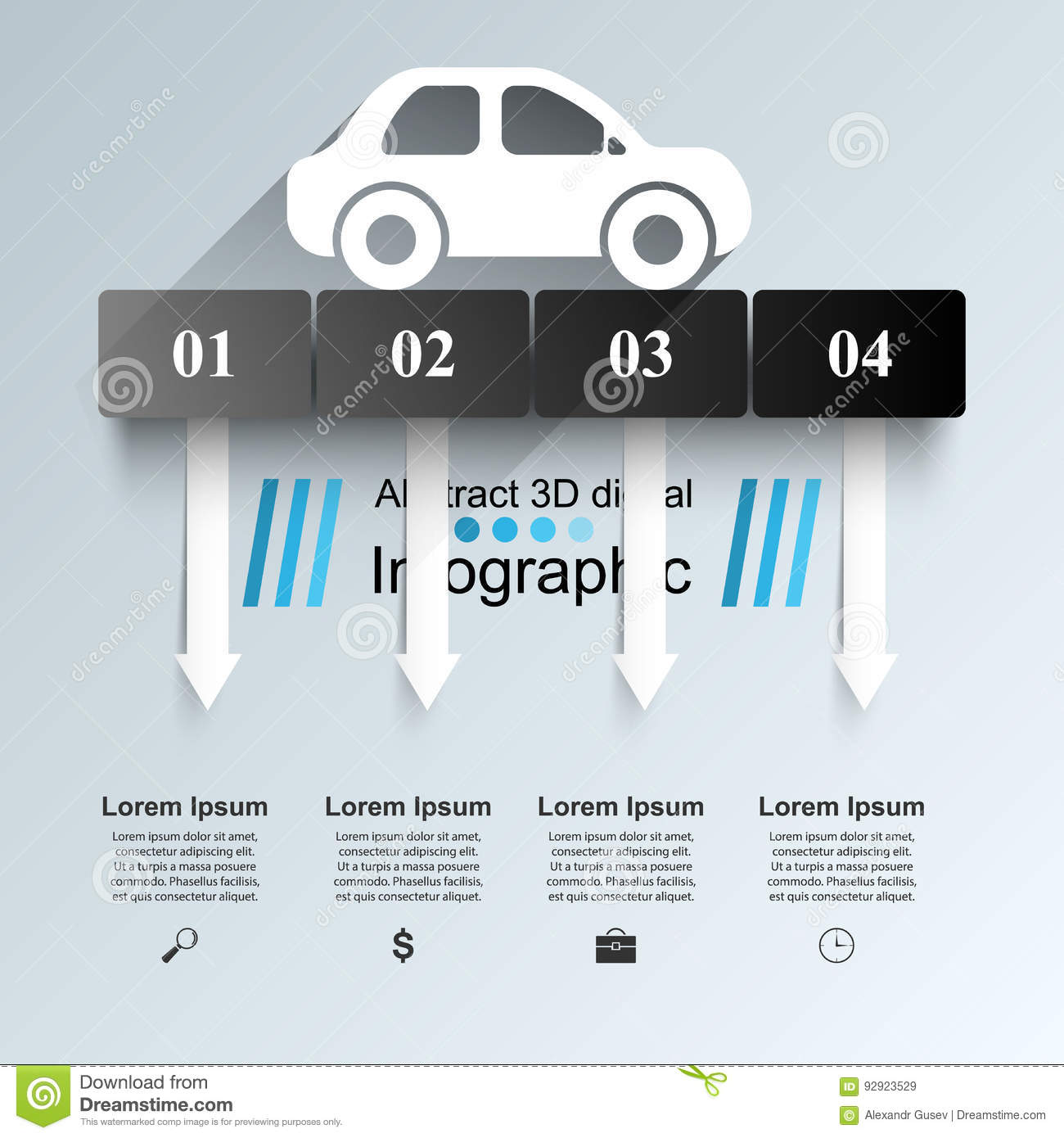 road infographic design template and marketing icons car icon rh dreamstime com Timeout Icon Blueprint Icon