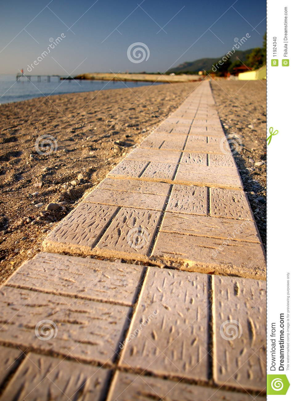 road made of blocks in beach stock photo image 11924340. Black Bedroom Furniture Sets. Home Design Ideas