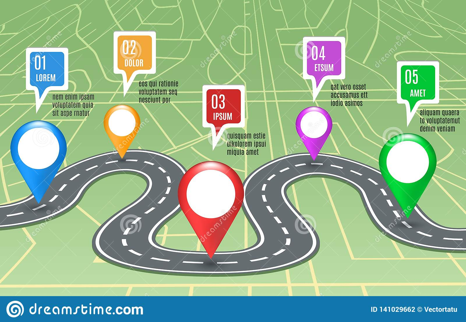 Road map concept stock vector. Illustration of connection ...