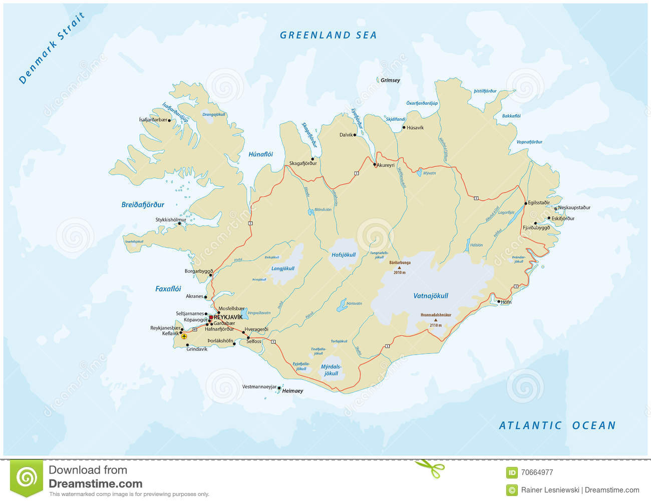 road map iceland