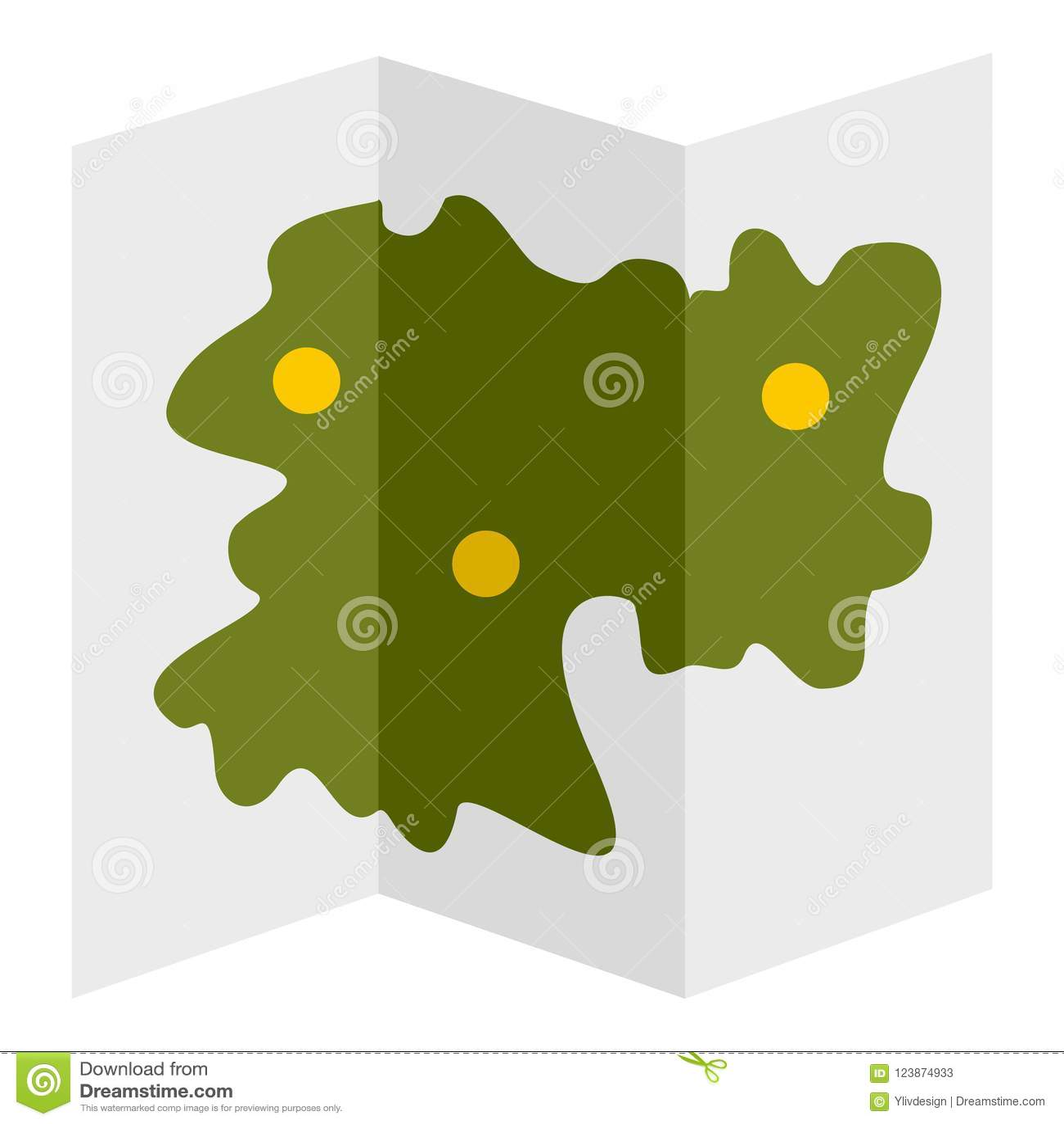 road map icon flat style stock illustration illustration of park