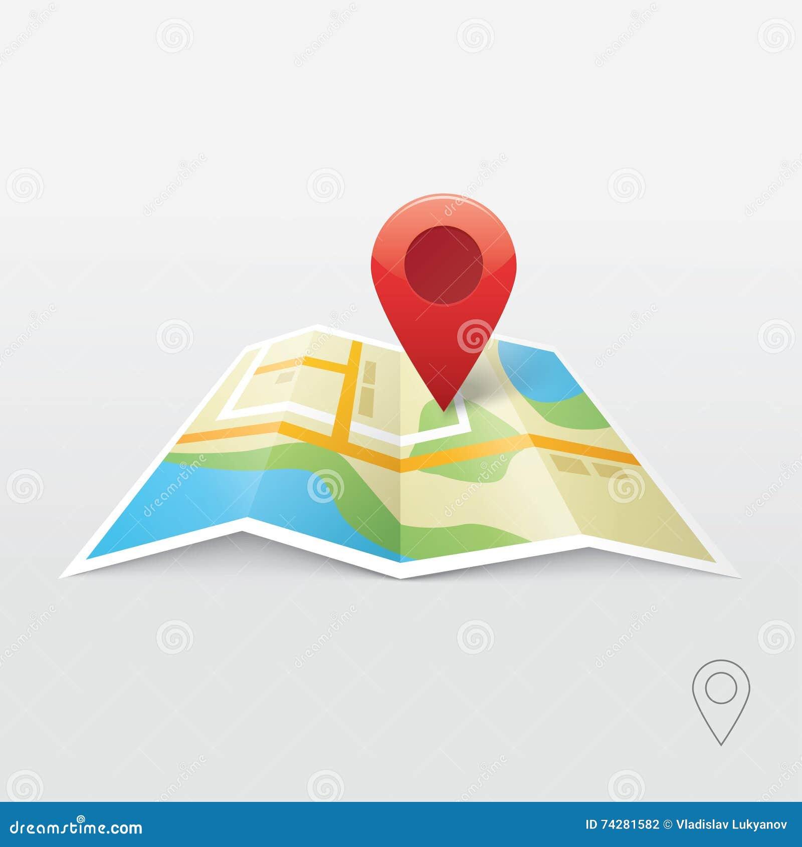 Pin locator logo design stock image for Location design