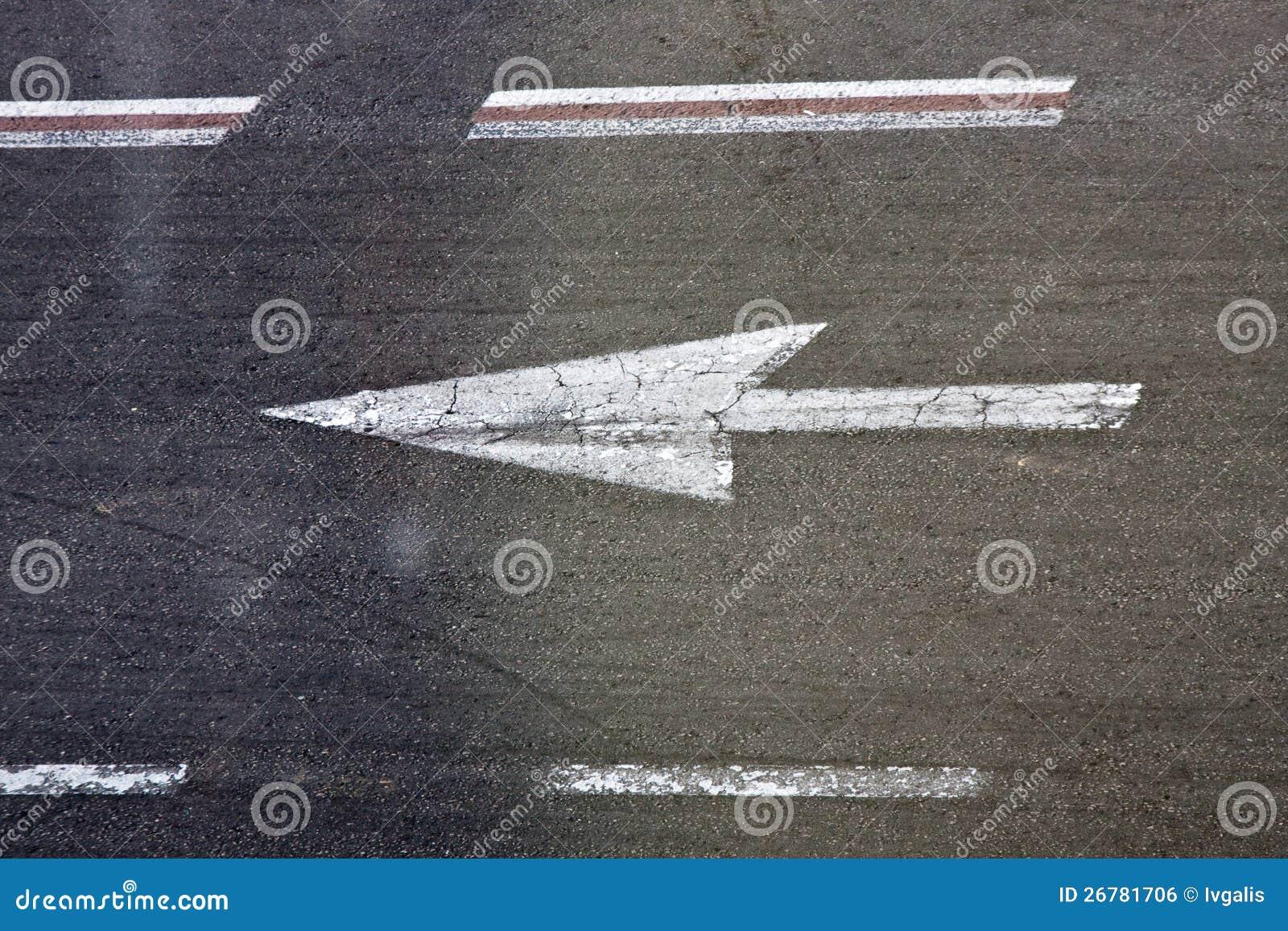 Road Marking Royalty Free Stock Image - Image: 26781706