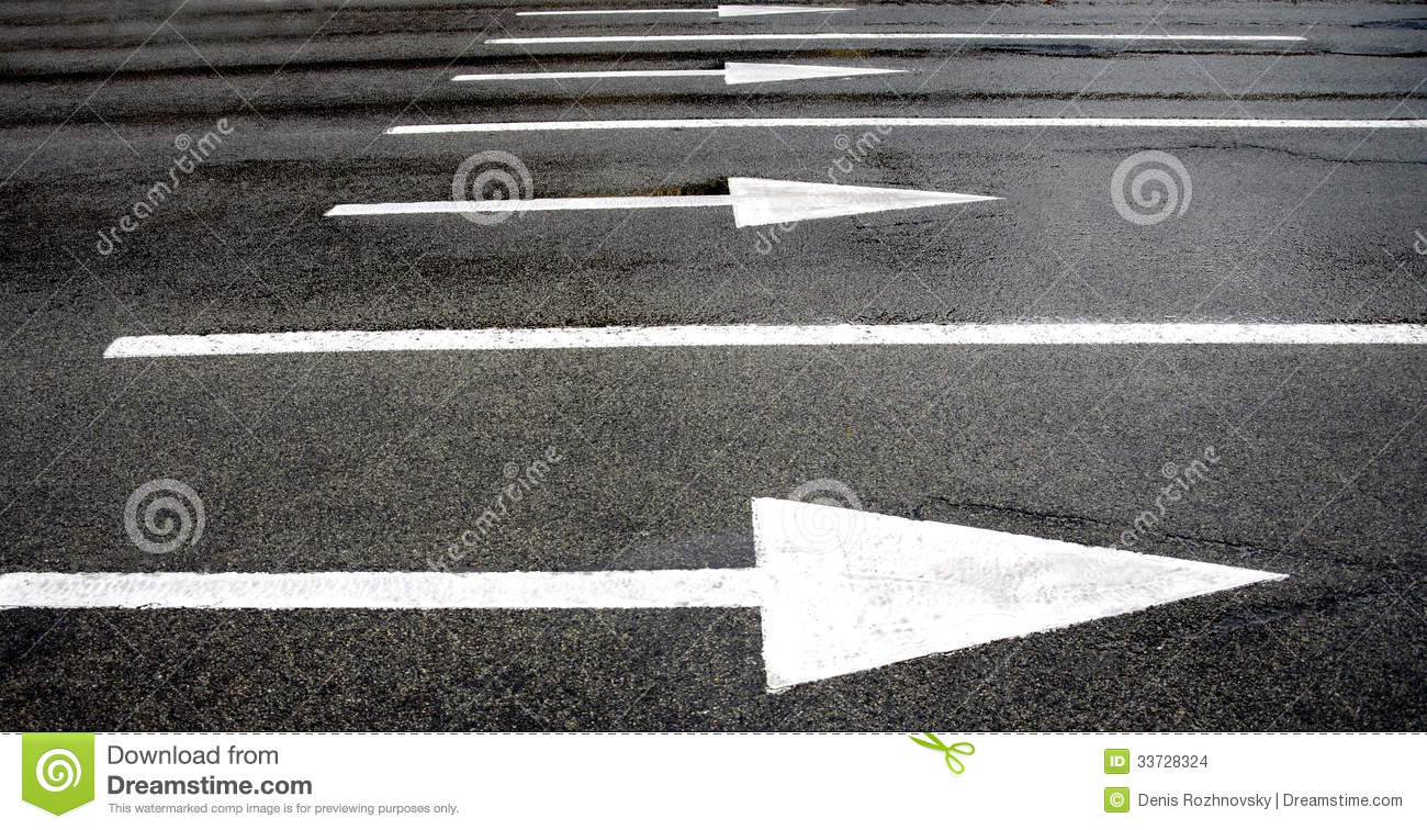 Road Marking Arrows Stock Images - Image: 33728324