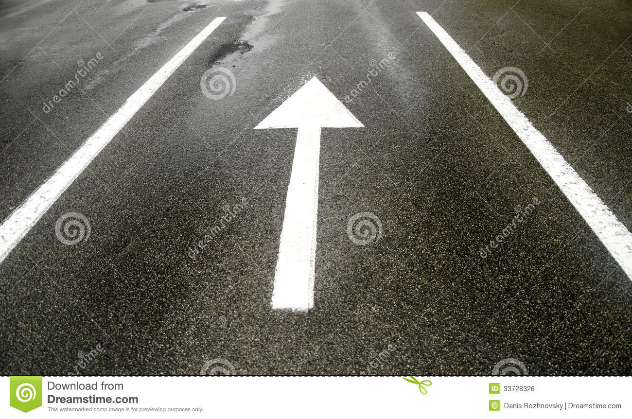 Road Marking Arrows Royalty Free Stock Image - Image: 33728326